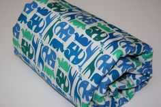 Minky Baby Blanket  Zoo Menagerie  Scattered by modernmadebaby, $34.00