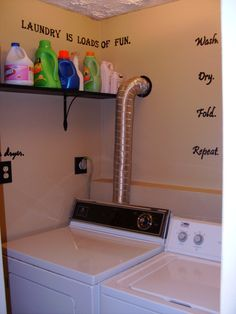 small laundry space in garage   Laundry Room Upper Cabinets Design ...