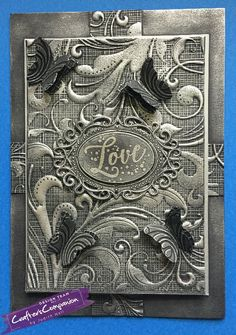rectangle card 3d embossing folder #crafterscompanion