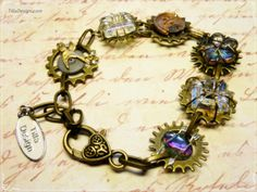 Steampunk gear bracelet by TillaDesigns on Etsy, $29.95
