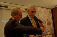 Sandro Bravin (Vicepresidente AIRA Nord) e Massimo Borriello (Presidente AIRA Veneto) al IX° GPAV - Hotel Papadopoli Venezia