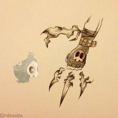 Pokeapon No. 355 - Duskull. #pokemon #duskull #shadowclaw #pokeapon