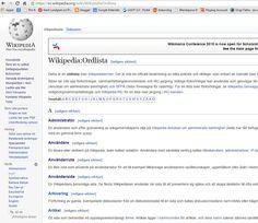 #ordlista för #Wikipedia https://sv.wikipedia.org/wiki/Wikipedia:Ordlista