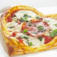 Valentino Tart  A special savoury tart for your special loved one, and transportable in a lunch box too!