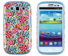 DandyCase 2in1 Hybrid High Impact Hard Clolorful Blooming Flowers Pattern + Sky Blue Silicone Case Cover For Samsung Galaxy S3 i9300 + DandyCase Screen Cleaner by DandyCase, http://www.amazon.com/dp/B00FAV29N0/ref=cm_sw_r_pi_dp_PUOPsb0YFZC5M