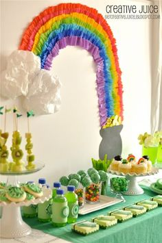 """""""Someone"""" should have a St Patrick's day Party  ( @Style Space & Stuff Blog Sachs )  I would totally help decorate"""