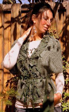 Vero Amore Tejidos Artesanales Ruffle Blouse, Hipster, Kimono, Natural, Style, Fashion, Wool Scarf, Fringes, Black