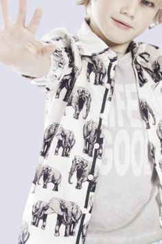 Bor*z 2014 elefant print at the new summer collection of this dutch boys label