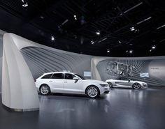 Der Audi Markenpavillon in der Autostadt Wolfsburg