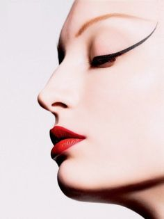 Pop Art Cosmetic Photography - The 'Perfect Line' Editorial
