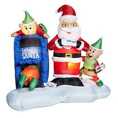 Winter Lane Airblown Inflatable Santa and Mailbox with Elves New In Box Thanksgiving Wishes, Christmas Inflatables, Food Drive, Red Cross, Outdoor Christmas, Mailbox, Elves, Winter Wonderland