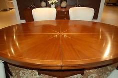 Henredon Celestial Oval Walnut Extendable Dining Table Angle