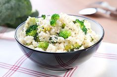 Kuskus s brokolicí a sýrem; Potato Salad, Cauliflower, Potatoes, Rice, Vegetables, Ethnic Recipes, Fitness, Food, Bulgur