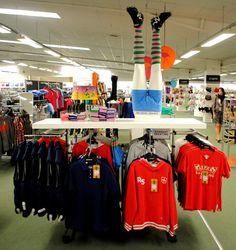 // display // visual merchandising // mens fashion // rampant sporting // socks // legs