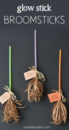 glowstick broomsticks for fall