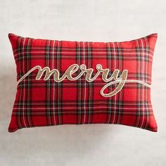 Christmas Plaid Home Decor Accessories - Domestically Speaking Tartan Christmas, Christmas Sewing, Silver Christmas, Victorian Christmas, Christmas Bells, Vintage Christmas, Merry Christmas, Christmas Bedroom, Christmas Home