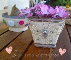 Είμαι παιδί: Mini κασπώ diy, για την γιορτή της Μητέρας Planter Pots, Mini, Crafts, Manualidades, Handmade Crafts, Craft, Arts And Crafts, Artesanato, Handicraft