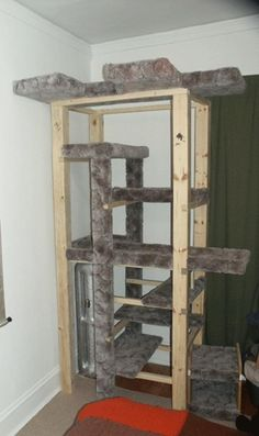 DIY Cat towers are awesome! by lazlozian on Build a cat tree for my cat on 43 Things
