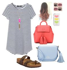 """first day of school"" by mkhays on Polyvore featuring Birkenstock, Kate Spade, Kendra Scott and Tory Burch"