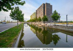 COPENHAGEN, DENMARK - AUGUST 01, 2015: Modern architecture in Copenhagen, Denmark - stock photo