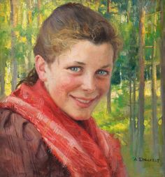 Girl from Porvoo by Albert Edelfelt (Sweden)