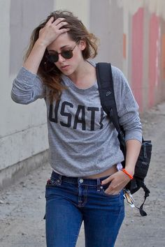 """Kristen Stewart's """"I-just-throw-together-whatever-shit-I-find-in-my-closet"""" style makes me so happy."""