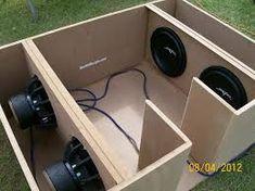 Resultado de imagen para bandpass box design Car Speaker Box, Custom Speaker Boxes, Speaker Plans, Speaker Box Design, Pro Audio Speakers, Diy Speakers, Box Software, Car Audio Installation, Subwoofer Box Design