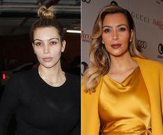 Kim Kardashian without makeup.
