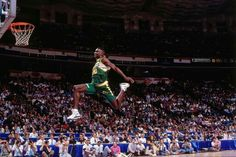 8e7e552b862 Seattle forward Shawn Kemp attempts a dunk during the 1991 Slam Dunk  Contest in Charlotte