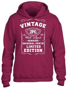 well aged original parts limited edition 1941 HOODIE
