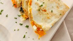 Carmelized Peach and Brie Quesadillas