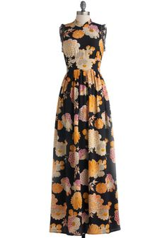 Rooftop Garden Party Dress by Corey Lynn Calter - Long, Woven, Floral, Lace, Cocktail, Maxi, Sleeveless, Best, Multi, Orange, Pink, Tan / Cr...