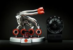 Man Cave. iXOOST audio dock from Modena  Italy made with original F1 exhaust for car enthusiasts. www.ixoost.it