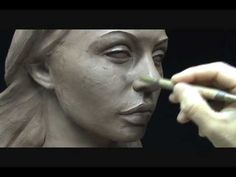 Sculpting a face in clay. Sculpting demo how to sculpt girl's face. - YouTube