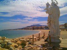 Virgen del Carmen a la entrada del puerto de Garrucha