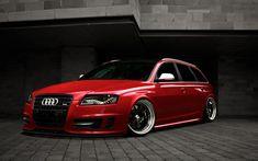 A6 Avant Red VIP Modular Wheels