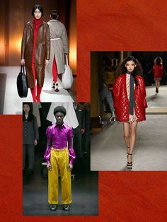 These 3 Colors From Fashion Month Are Trending — Domino Red Photography, 2020 Fashion Trends, Ulla Johnson, Fashion Colours, Carolina Herrera, Spring Colors, Color Trends, Looks Great, Leather Jacket