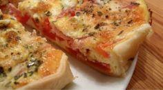 Quiche de salmón ahumado y queso