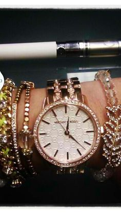 Rose Gold MK Watch with Arm Candy