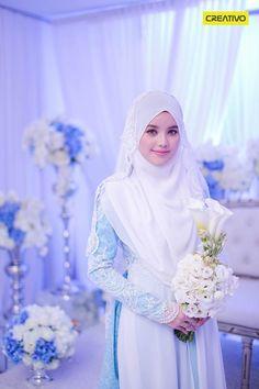 Dr Fatin Liyana on her beautiful solemnization dress..
