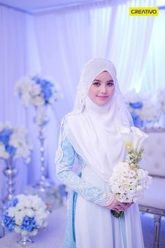 Dr Fatin Liyana on her beautiful solemnization dress..