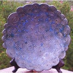 Hand Built Coil Platter - any of us that have attempted coil work know that this artist has skill beyond . . .