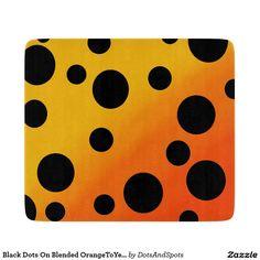 Black Dots On Blended OrangeToYellow Cutting Boards