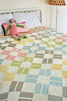 Amblin' Along Strip Quilt