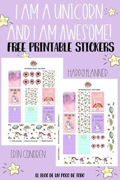It's a Magical Week! Grab Your Free Printable Unicorn Planner Stickers! | El Blog de Un Poco de Todo