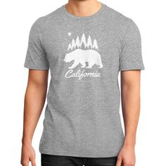 California Bear Flag Republic District T-Shirt (on man)