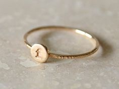 Monogrammed Initial Ring  GoldFilled by fruitionLA on Etsy, $65.00