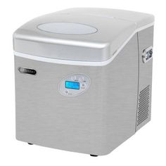 Whynter 49 lb. Portable Ice Maker in Stainless Steel with Water Connection-IMC-491DC - The Home Depot