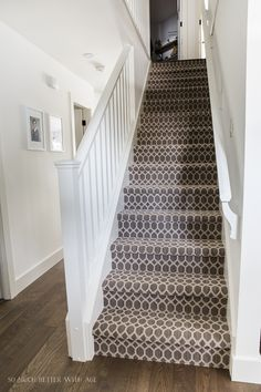 How New Baseboards, Trim and Doors Make a Huge Difference   So Much Better With Age Hallway Carpet Runners, Cheap Carpet Runners, Carpet Stairs, Carpet Decor, Diy Carpet, Rugs On Carpet, Modern Carpet, Wall Carpet, Carpets