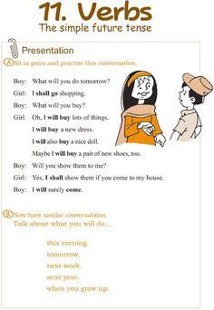 Grade 3 Grammar Lesson 11 Verbs – the simple future tense